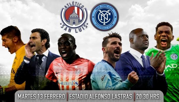 Oficial: @AtletiDeSanLuis recibirá en el Lastras al New York City FC de David Villa en partido amistoso