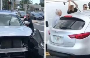 Intentan detener, con lujo de violencia, a un conductor imprudente