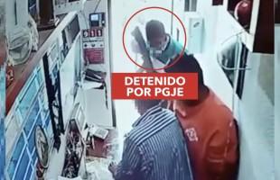 PGJE captura a sujeto que robó un negocio de chatarra en SLP
