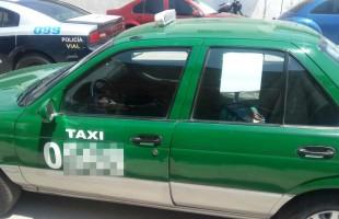 Seguridad Pública de Soledad, informa de la recuperación de un taxi que contaba con reporte de robo