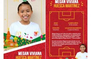 McDonald's cumple el sueño mundialista de una niña mexicana que será parte de la Copa Mundial de la FIFA Rusia 2018