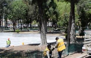"""Continúa rehabilitación integral de la alameda central """"Juan Sarabia"""""""