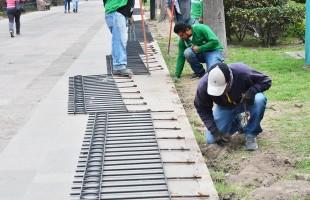 Reinstalan barandal en andador central de calzada de Guadalupe