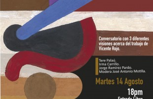 Tere Palaú, Irma Carrillo, Jorge Ramírez Pardo y José Antonio Motilla en conversatorio sobre Vicente Rojo