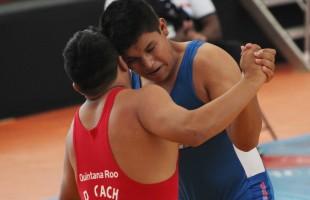 Exhibición de lucha olímpica en Soledad de Graciano Sánchez